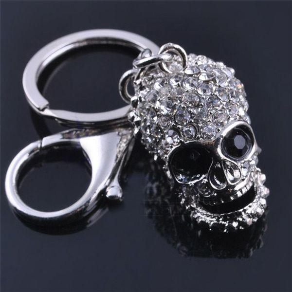 4 Estilos Exquisitos Crystal Skull / Llave / Guantes de Boxeo / Llaveros Llavero Llavero de Metal Para Hombres Joyería Regalo