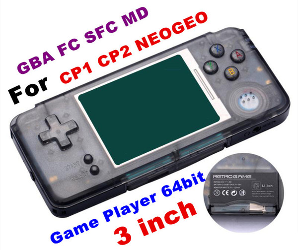 RETROGAME Mini Handheld Game Player 64bit 3.0 inch LCD Portable Game Console For CP1 CP2 NEOGEO GBA FC SFC MD Format Games support TF Card