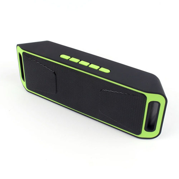 5 Color Double Speakers Portable Wireless Bluetooth 4.0 Speaker Stereo Subwoofer Speakers TF USB FM Radio Dual Bass Speakers