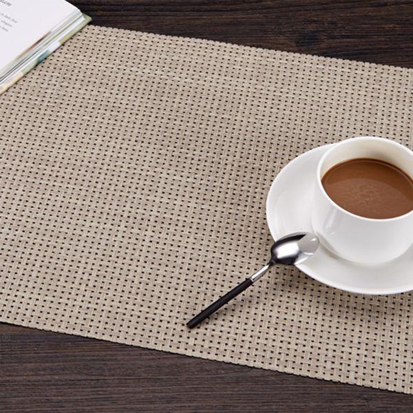 Mats PVC Table Caster Cloth Non Slip Waterproof Place Mat Pad Heat Resistant Onderzeers Home Accessories Kitchen 60M3010