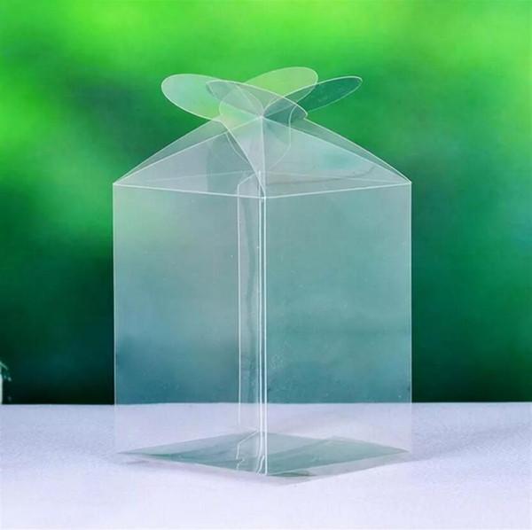 Basit Temizle PVC Cupcake Kutuları Plastik Kek Sarıcı Gelin Duş Düğün Şeker Kutusu Ücretsiz Kargo 36 adet / grup