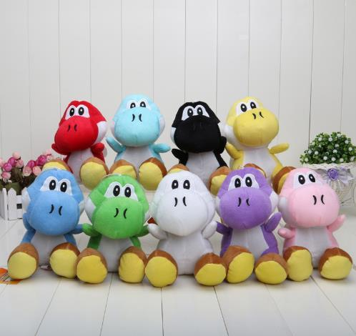 17CM Super Mario Bros Yoshi Plush Stuffed toys Dolls Mario Plush Toys Free shipping Stuffed Animals & Toys