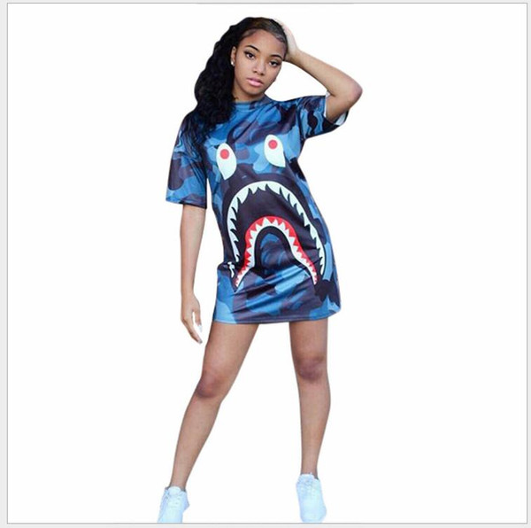 best selling D8109 women's Spring and summerclothing 2018 new digital printing short-sleeved dress fashion dress women dress