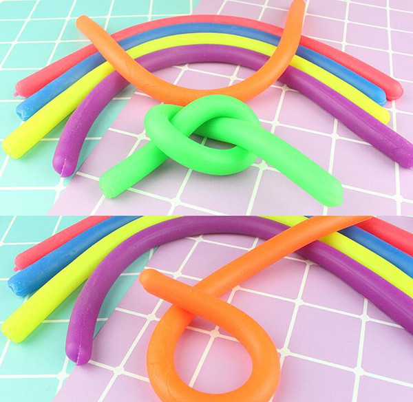 1000pc novelty decompre ion rope tpr fidget abreact flexible glue noodle rope tretchy tring neon ling children toy xma gift