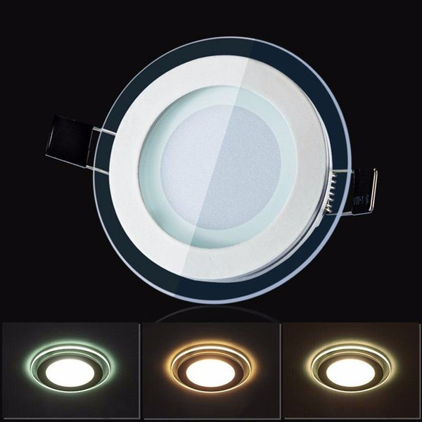 6w 12w 18w 24w led panel downlight round glass ceiling recessed lights smd 5730 warm cold white led ceiling recessed lights ac85-265v