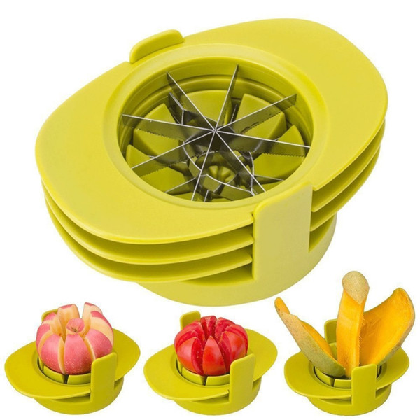 Apple Corers Trancheuse En Acier Inoxydable Tomate Mangue Trancheuse Cuisine Multifonction Gadget Cuiseur De Fruits Déchiqueteuse
