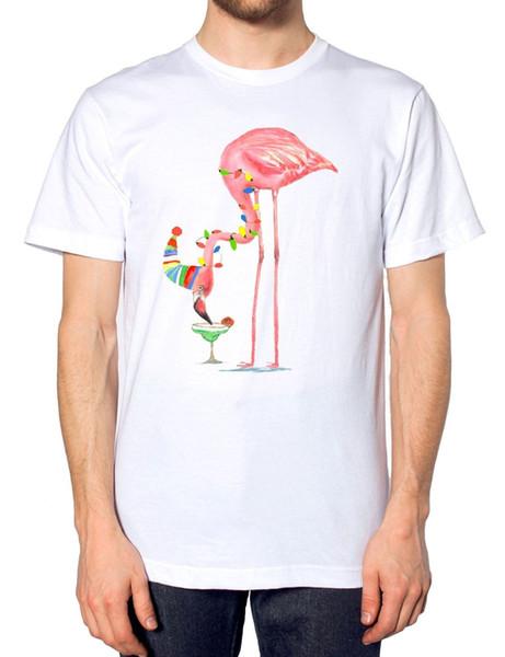Пьяный Фламинго Рождество Майка Новинка Топ Смешной Алкоголь Подарок Смешной Подарок