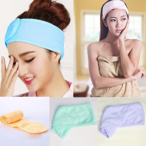best selling Popular Cute Soft Towel Hair Band Wrap Headband For Bath Spa Yoga Sport Make Up