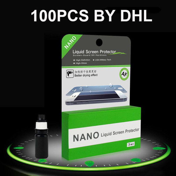 5ML 1ML NANO Technology Liquid Screen Protector for iPhone 6 7 plus 8 samsung s8 S7 edge ipad air Anti Scratch tempered Screen