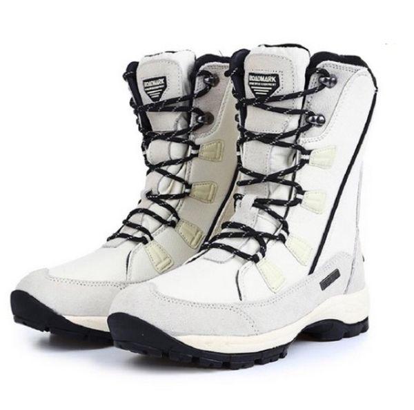 Mulheres Botas de Neve À Prova D 'Água Isolada Inverno Quente Martin Bota Montanhismo Caminhadas Esportes de Esqui Sapatos Ao Ar Livre Anti Skid Lace-up Botas