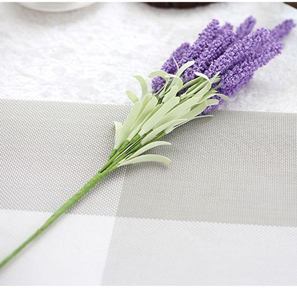 51cm Artificial Lavender Flowers Wedding Christmas Party Table Decoration Bouquet 12 Head Lavender Simulation Flowers Man-mande