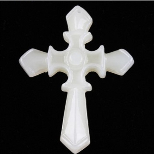 Xinjiang Hetian Blue Jade Cross Pendant Male and Female Blessing Peace and Carving