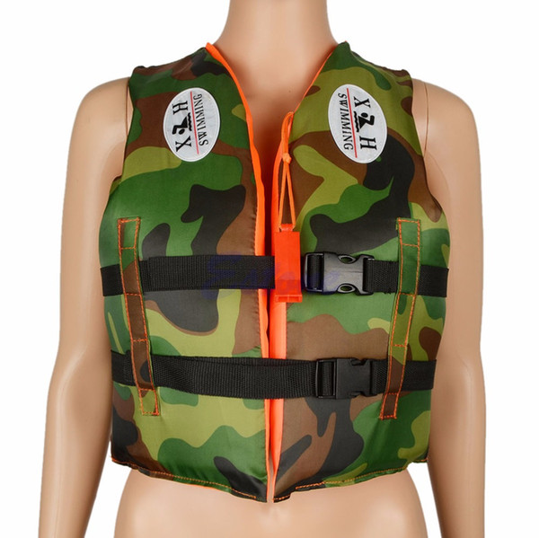 Kids Camouflage Life Jackets Vest Swimwear with Whistle for 4~7 years old Children Outdoor Swimming Drifting Equipment