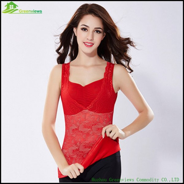 2pcs/lot Feminine Thicker Tops Autumn Winter Warm Tank For Women Tight Velvet Vest Control Top XL-3XL Black/Red/Dark red