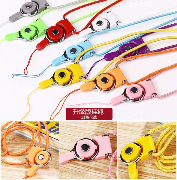 Detachable Lanyard Sling Finger Ring for Cell Phone Neck Fashion Universal Hanging Rope for Cell Phone Case Iphone 6 Card Keychain
