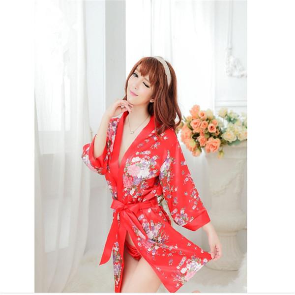 Сексуальное женское белье большой размер игра униформа печатных кимоно ночная рубашка слинг равномерное искушение новая пара флирт взрослые секс-игрушки