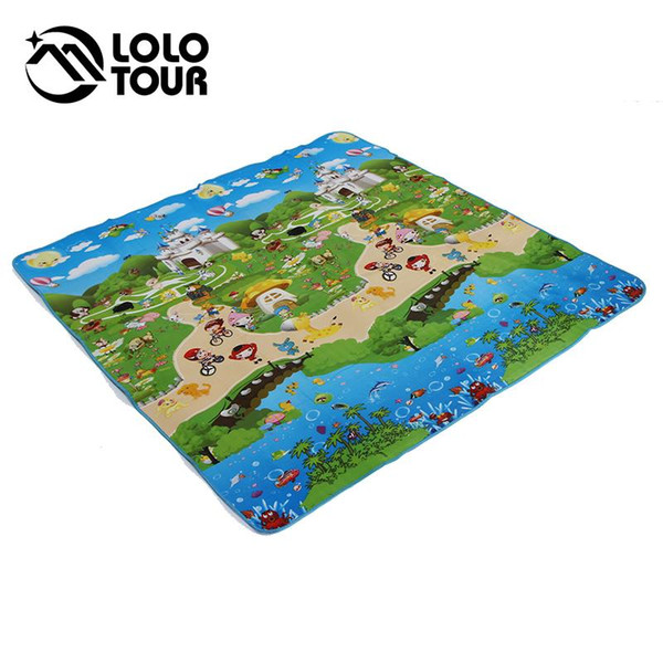 Wholesale-Outdoor Camping Beach Mat Picnic Blanket Multiplayer Fold Waterproof Moistureproof Baby Climb Plaid 180*180cm