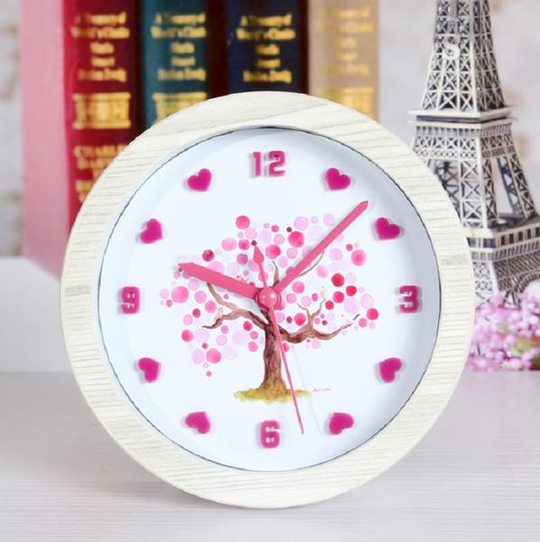 Tree 3D mute alarm automobile despertador digital watch electronic desk home decor klok masa saatial fajr clock plastic single