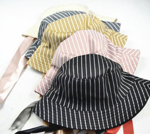 Literary lattice fisherman hat Japanese wild leisure hat female spring and summer tourism sun visor sun hat tide fashion street jewelry