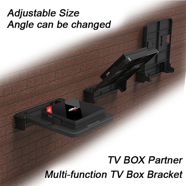 Holder for Android TV Box Wall Mount Set Top Boxes Bracket 90 Degree Adjust Stand Mounts Digital DVD Mount for Router all kinds media player