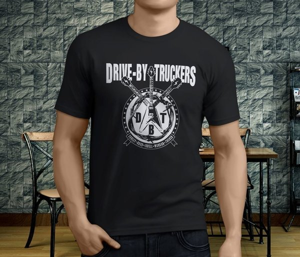 New Popular DRIVE BY TRUCKERS Men's Black T-Shirt S-3XL T-Shirts 2018 Brand Clothes Slim Fit Printing Print T Shirts Men