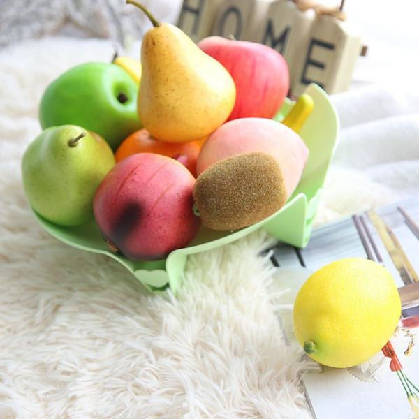 Vivid Mousse Fruits Artificiels Faux Lifelike Fruits Pomme Pêche Poire Banane De Mariage Décoration Décoratif DIY Partie Maison Ornements