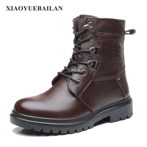 2017 new winter fashion comfortable warmth slip boots men thickening boots