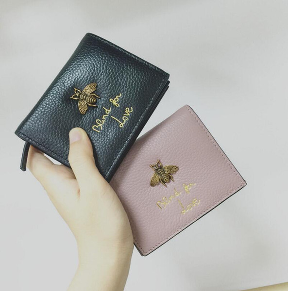 Famous Brand Womens Wallets And Purses Coin Credit Card Holder Leather Luxury Small Wallets Money Clip Wallet Designer Women Leather Wellets