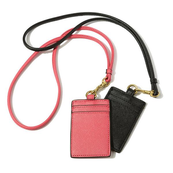 NOVA 2018 clássico moda PU Mini case com titular do cartão Corda Pendurada tag titular do cartão Saco da moeda de Luxo presente VIP