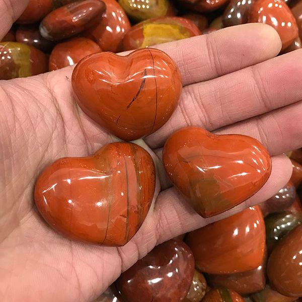 Hochwertiger Roter Jaspis Heart Shaped Cordiform Niere Loving Crystal Quartz Heilung poliert getrommelt Stone Ocean Love Edelstein