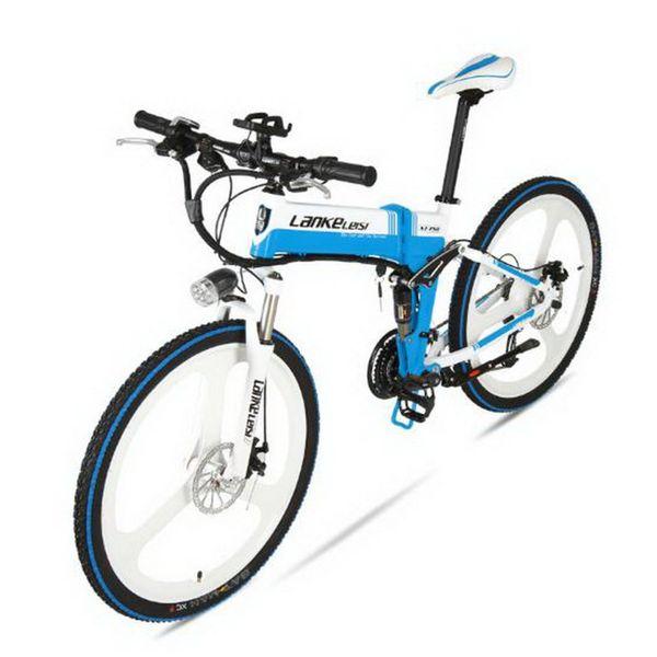 tb311104 / Elektroauto 26-Zoll-Lithium-Batterie Falten Mountainbike 36V eine Runde 27 Geschwindigkeit Fahrrad / Elektrostatische Lackierung