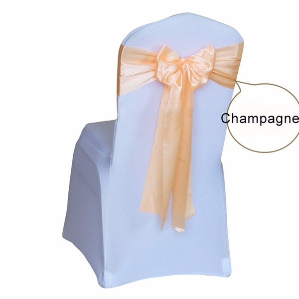 Satin Sash Chair cover Sashes wedding decoration for wedding party event hotel Chair Bow Ribbon band