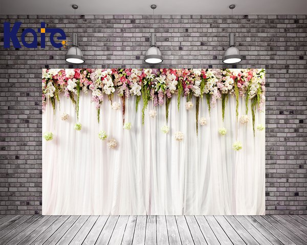 2019 Kate 10x10ft Flower Wedding Party Photo Backdrop White Curtain Cloth Backdrops Washable Microfiber Photographic Background From Xbye 60 29