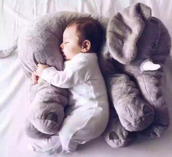 Cartone animato 60cm Grande peluche Elefante Giocattolo Bambini Dormire Cuscino imbottito Cuscino Elefante Bambola Bambola Regalo di compleanno per bambini