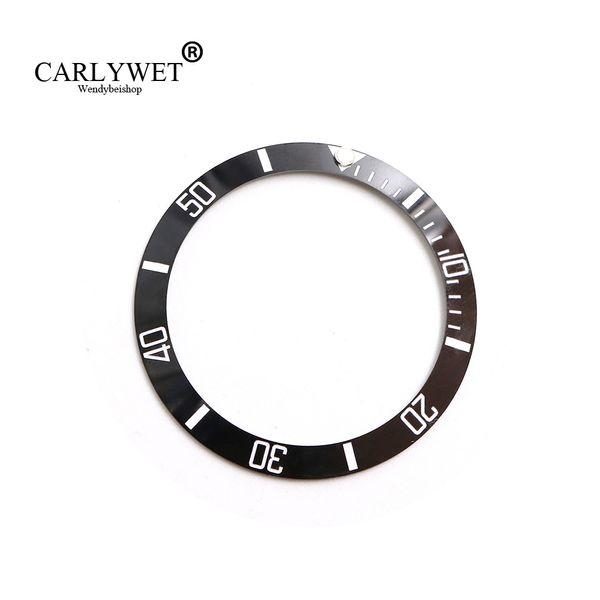 CARLYWET Оптовая замена черный с белыми надписями керамический безель 38 мм вставка для подводника GMT 40 мм 116610 LN