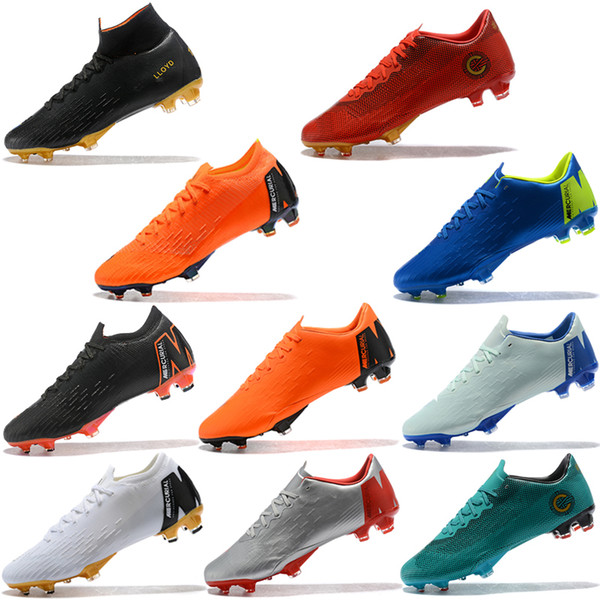 Assassin 12 Mercurial Superfly VI 360 Elite Football Boots XII Pro FG Waterproof Low TOP Quality 2018 Soccer Shoes