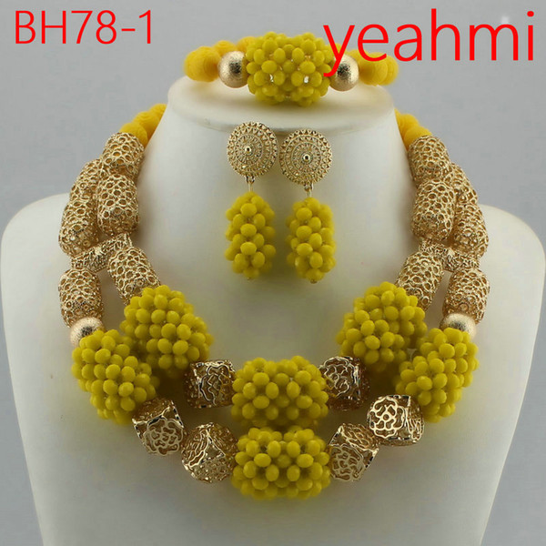 2018 Fashionable African Wedding Jewelry Set Coral Beads Jewelry Set Nigerian Beads Necklace Jewelry Set Free Shipping BH78-2