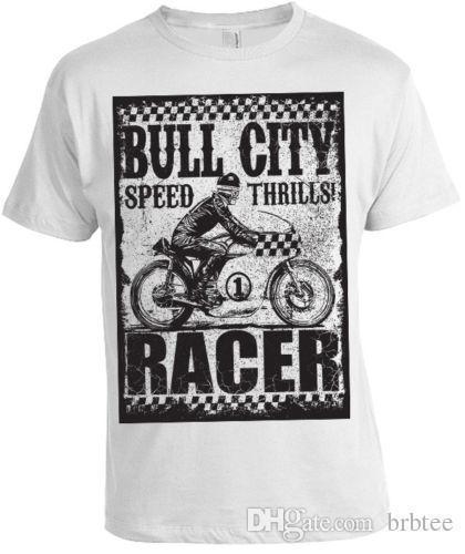 Bulle Ville T-shirt Herren Damen Speed Racer Biker Motorrad Geschenk WeihnachtenO-Neck manches courtes T-shirts
