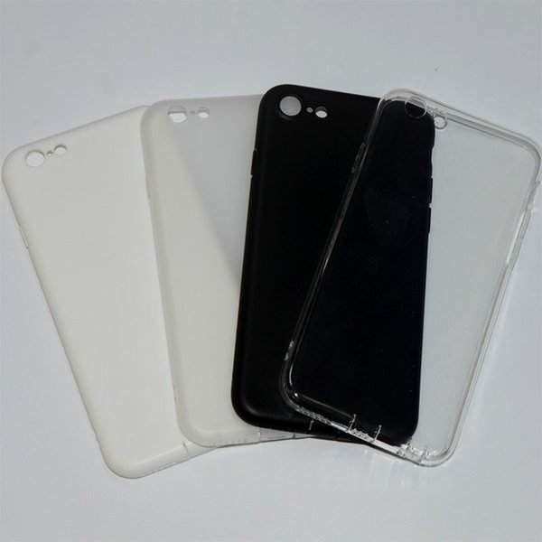 Iphone Special-purpose Mobile Phone Shell Transparent Black Soft Shell Plastic Back Cover Simple Solid Color Mobile Phone Shell