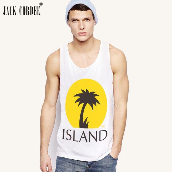 JACK CORDEE 2018 Beach Fashion Tank Top Men Cotton Sleeveless T Shirt Hawaiian Summer Singlets Undershirt Brand Vest Male Tops