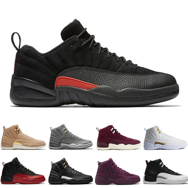 New 12 12s men basketball shoes Wheat Dark Grey Bordeaux Flu Game The Master Taxi Playoffs French Blue Wool Barons Wolf Grey Sports sneakers
