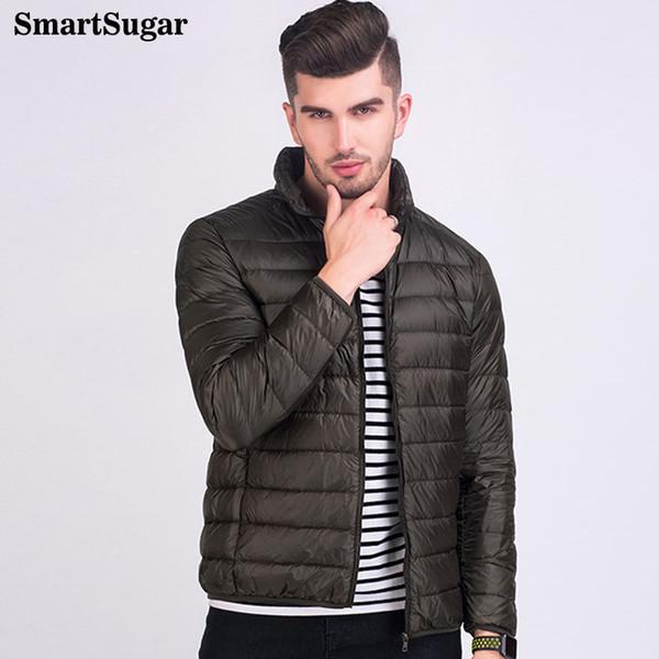 SMARTSUGAR Spring Autumn Thin 95% White Duck Down Jacket Men Casual Ultralight Male Feather Jackets Coat Ultra Light Lightweight