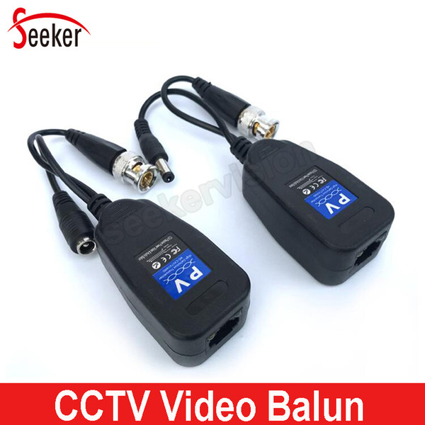 10 pairs/lot CCTV Security Twisted Video Balun Coaxial Passive Adapter Transceiver CAT5 to RJ45 for HD Analog Cameras AHD CVI TVI Camera