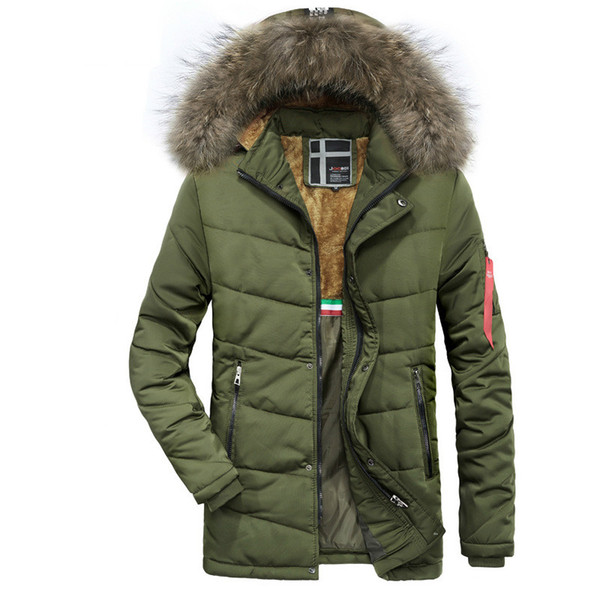 2018 New Parkas Mens Winter Jackets Coats Thicken Warm jacket Hooded Cotton-Padded Male Fashion wind coat Clothing Homme Parkas