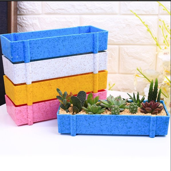 DL-806 21.8x4.2x8cm flower Planters & Pots Environmentally friendly materials plastic flower pot Flower/Green Plant Garden Supplies