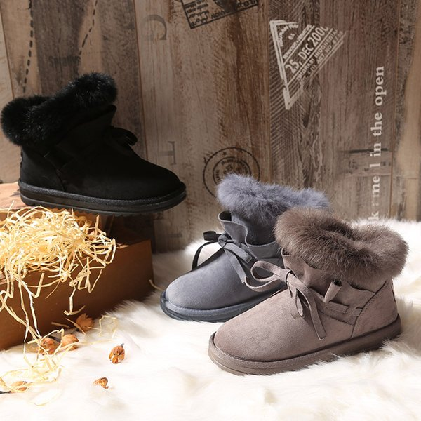 2019 New Women Winter Boots Australia Classic snow Boots good fashion Bottines Tall boots Bowknot women's bailey bow