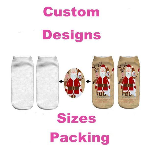 best selling Custom Ladies Socks 3D Digital Printing Casual Ankle Socks Unicorn Cartoon Customized Print Hip Hop Woman Socks Free Customization RE3456