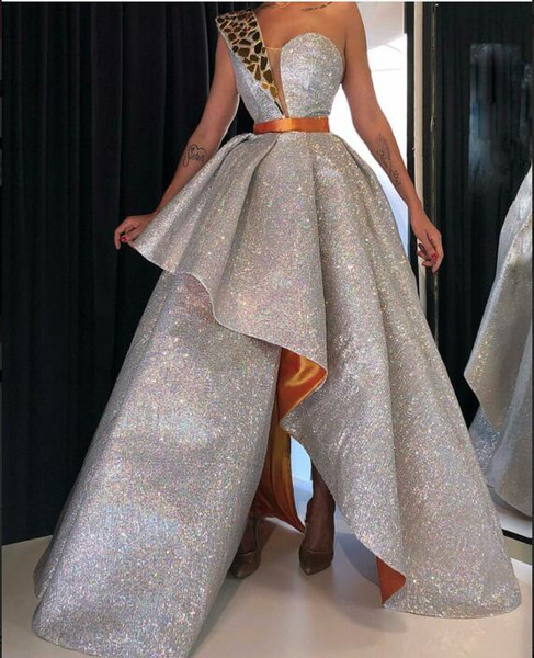 Evening Dress Yousef aljasmi Long Dress Sleeveless Sequins Sweetheart Backless Silver Sashes Ball Gown Beautiful Modern Classic Fashionable
