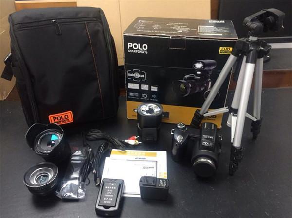 PROTAX Polo Sharpshots D7300 Digital Camera HD Camcorder 33MP DSLR Camera Wide Angle Lens 24x Optical Telescope Lens Free DHL