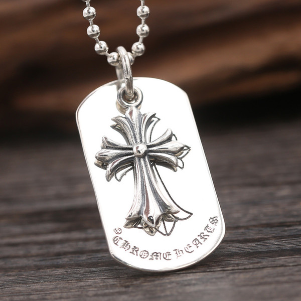 Brand new 925 sterling silver vintage jewelry luxury American European antique silver hand-made designer nice crosses pendants no chain hot